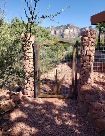 Custom Metal Gate with Wood